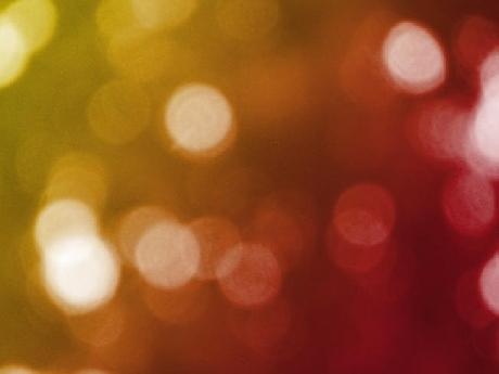 Red and Gold Bokeh Background