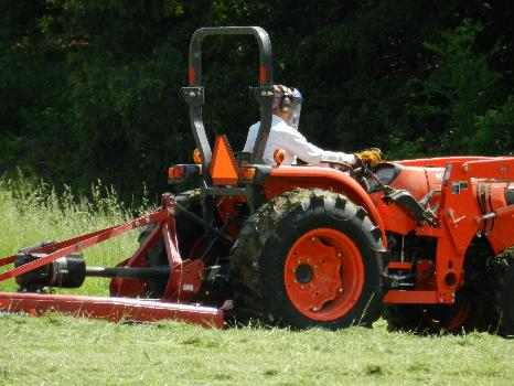 Tractor in Use