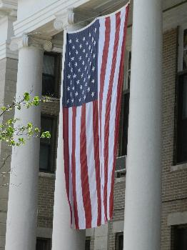Flag on Courthouse
