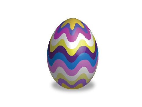 Wavy Striped Egg
