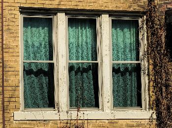 Windows with Lace Curtains