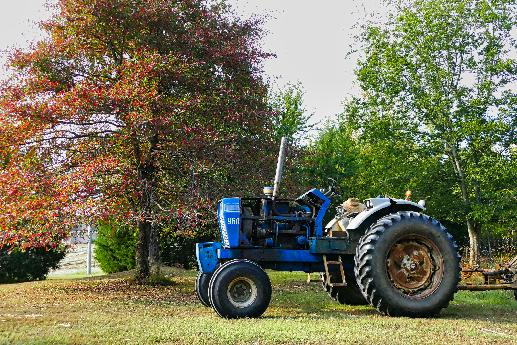 Tractor in Fall