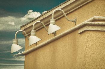 Lamps on a Building
